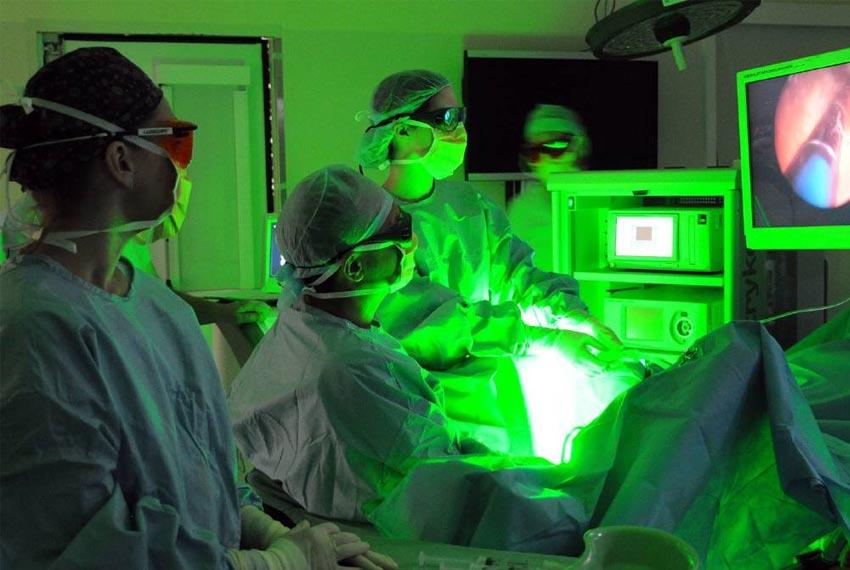 Uso del láser en la urología